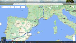 Route Herbst/Winter Spanien