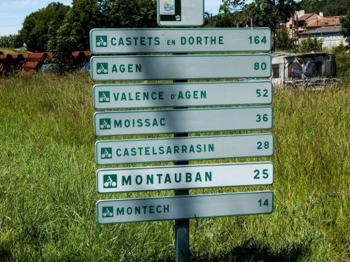 Die letzten Kilometer nach Montech