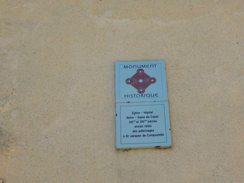 Plakette an der alten Pilgerstätte