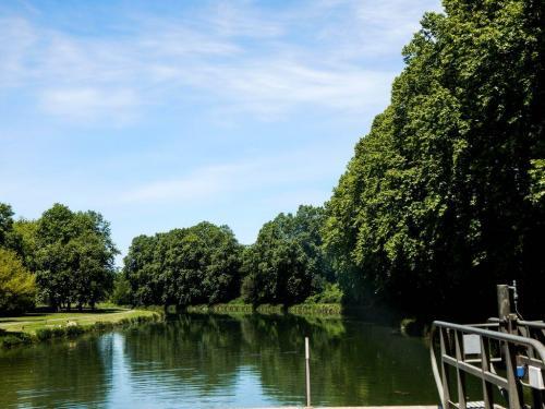 Hier mündet der Kanal in die Garonne (1)