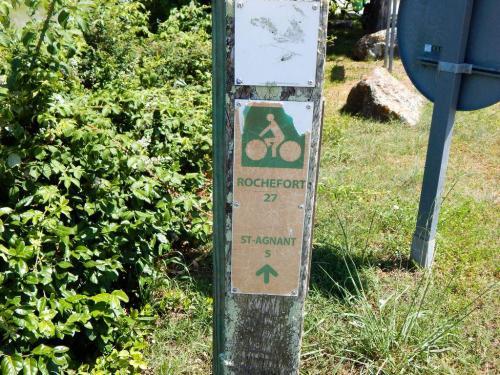 Radwanderweg nach Rocheford
