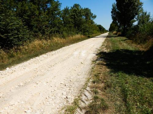 Radweg noch im Bau