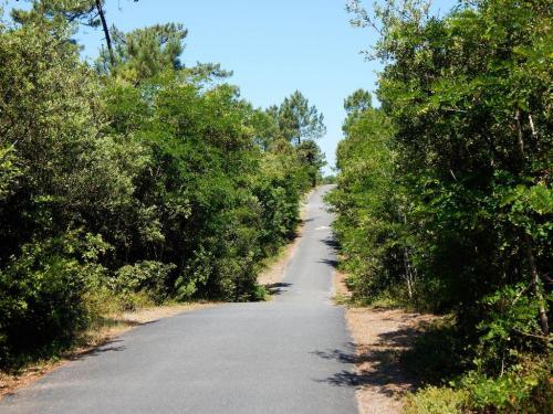 Rauf und runter auf dem Radwanderweg entlang der Küste